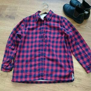 LLbean fleece lined flannel shirt